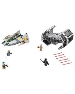 75150 Darth Vaders TIE Advanced tegen de A-Wing Starfighter
