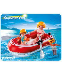 5439 Toeristen met rubberboot