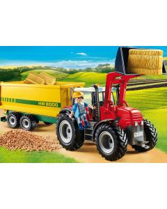 70131 Grote tractor met aanhangwagen